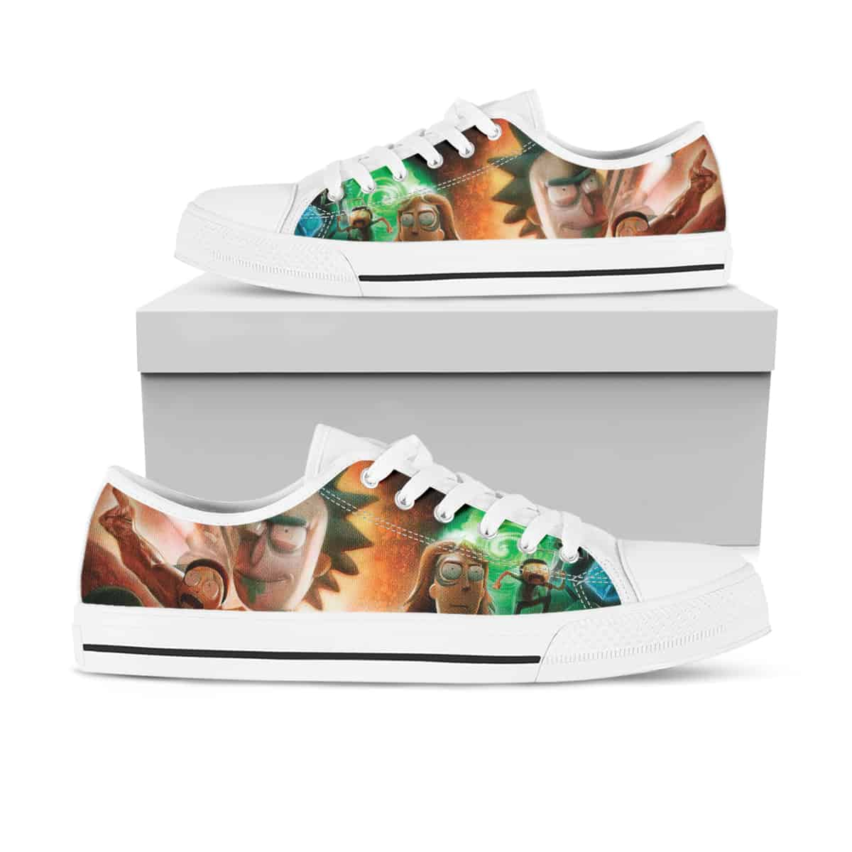 Rick And Morty Ha26 Low Top Shoes