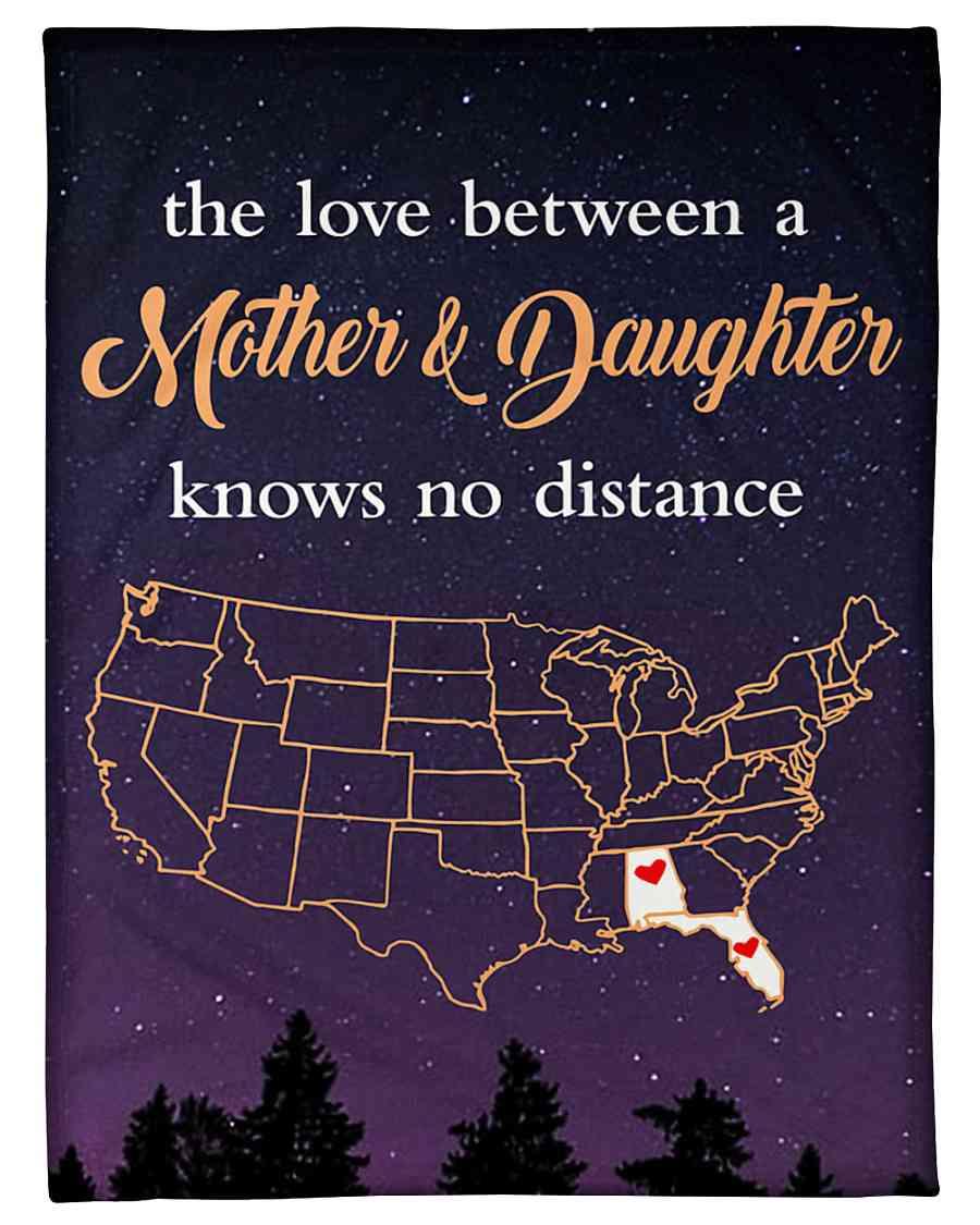 Alabama Florida The Love Mother And Daughter Fleece Blanket