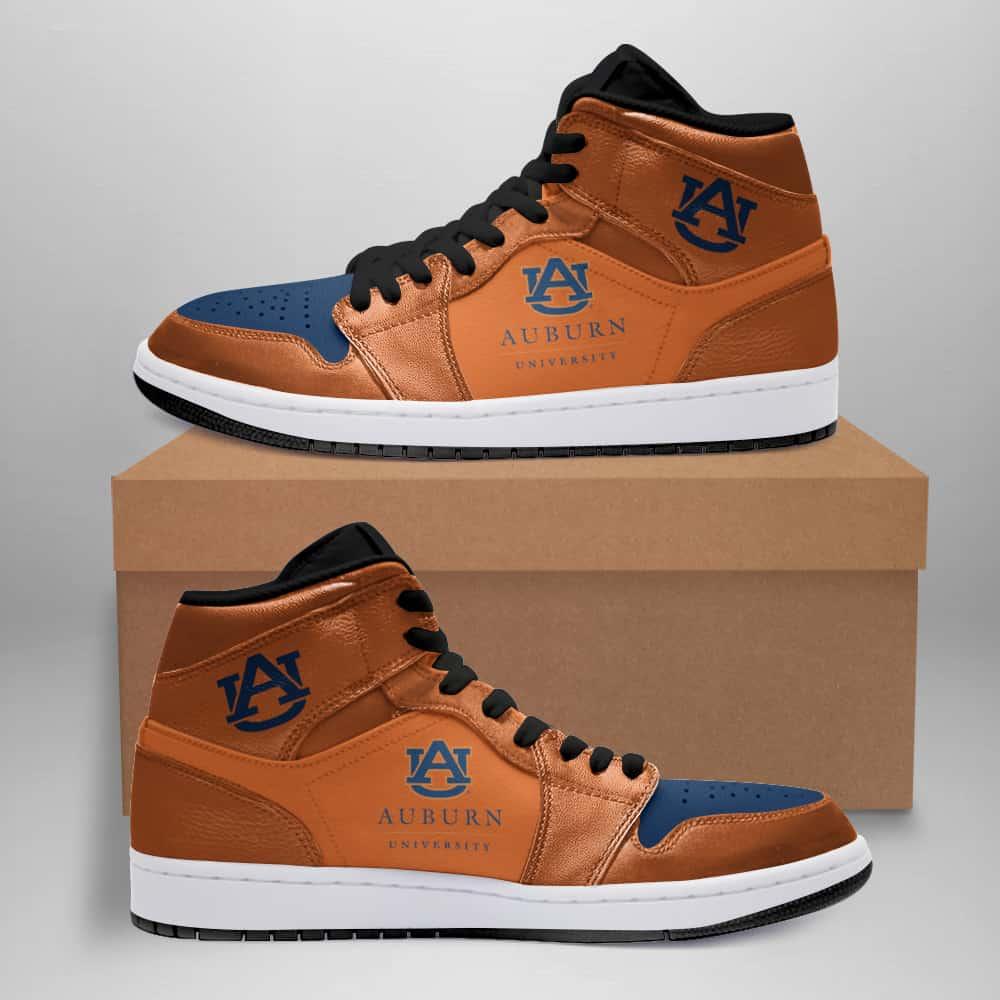 Auburn Tigers American Football Custom Air Jordan Shoes