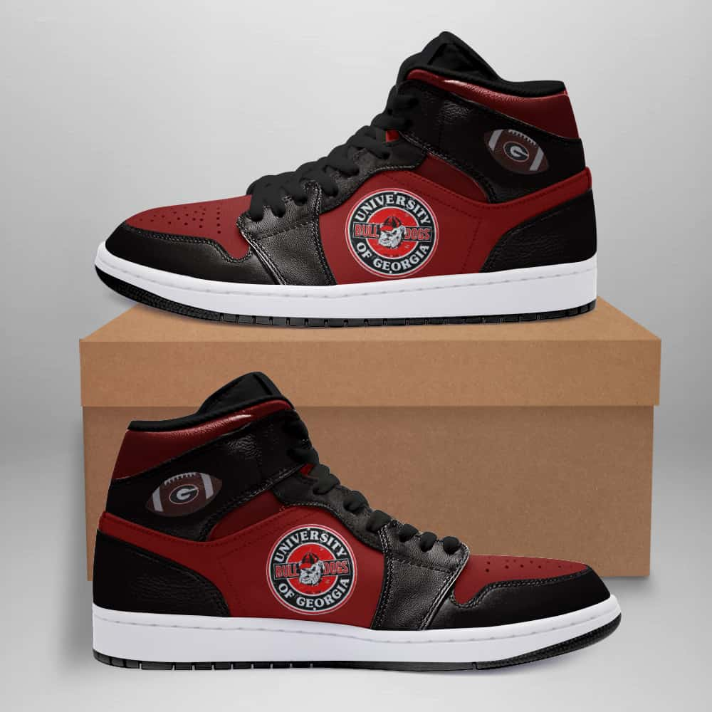 Georgia Bulldogs American Football Custom Air Jordan Shoes