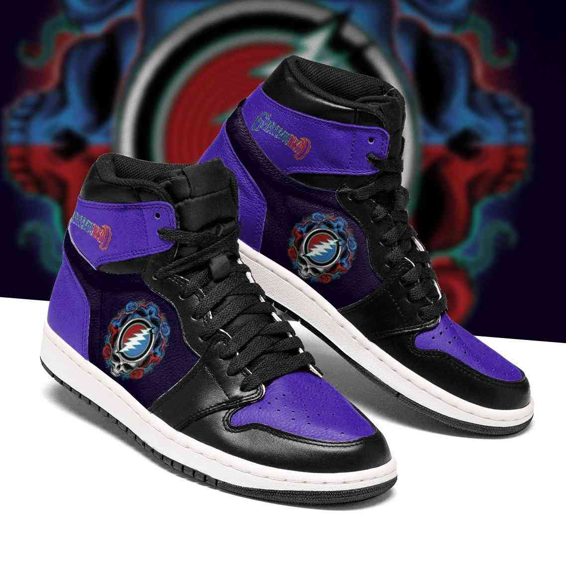 Grateful Dead Custom Air Jordan Shoes