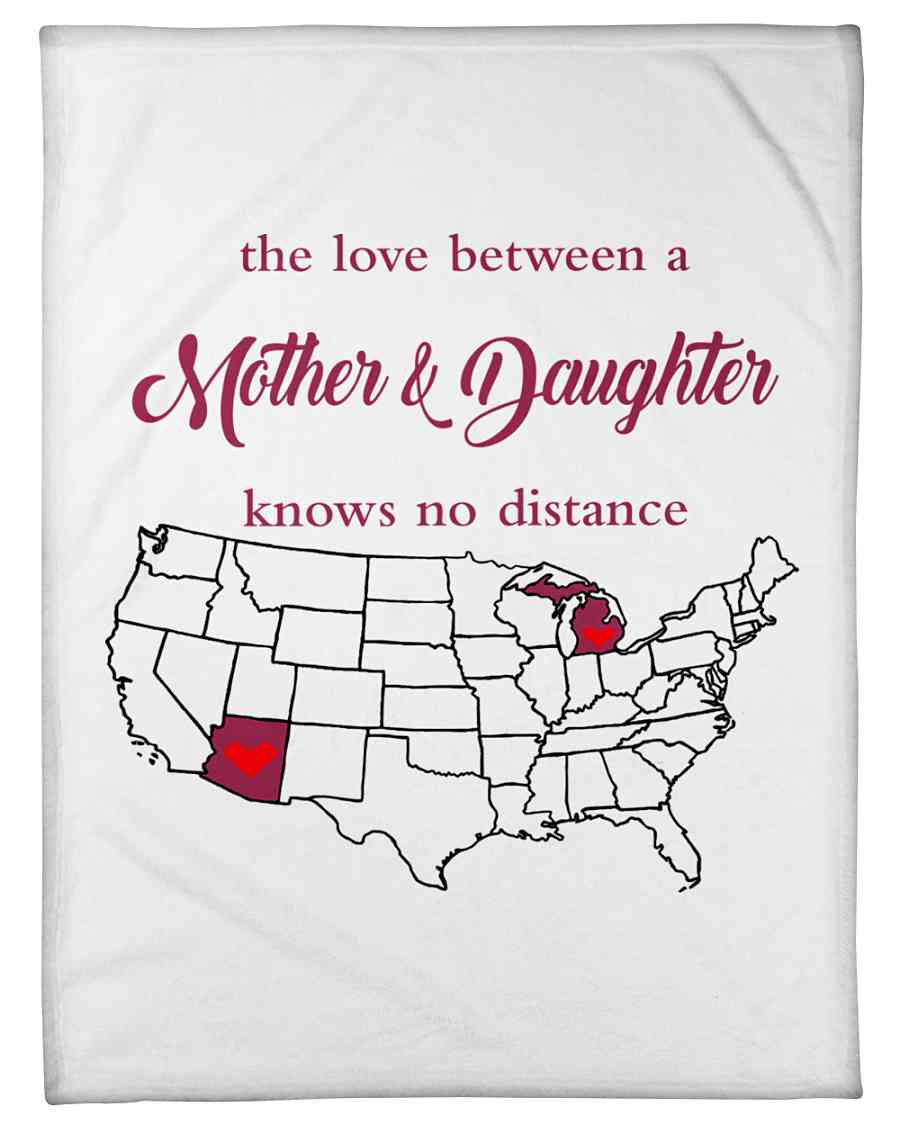 Love Between Mother And Daughter Michigan Arizona Fleece Blanket