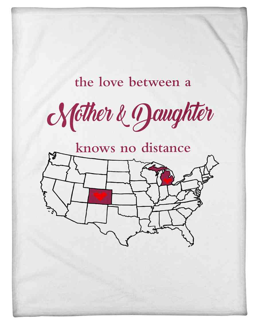 Love Between Mother Daughter Michigan Colorado Fleece Blanket