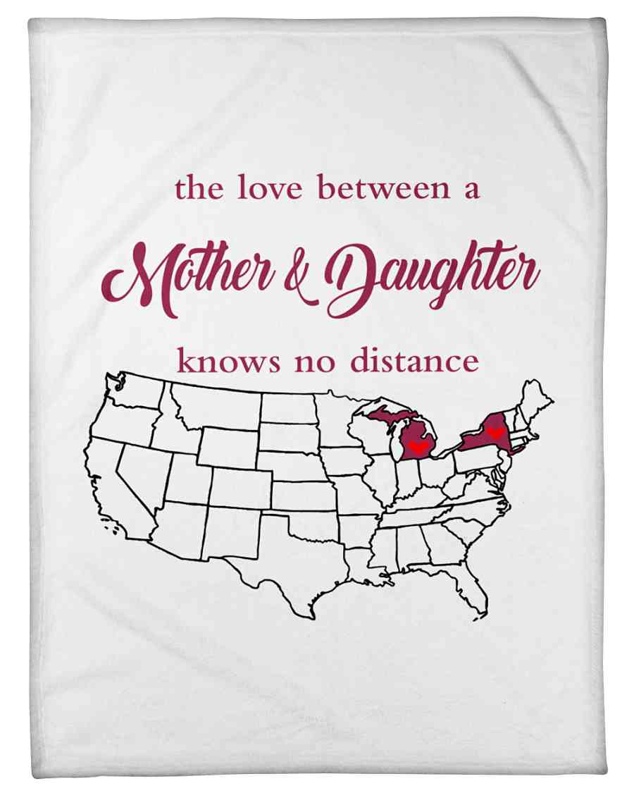 Love Between Mother Daughter Michigan New York Fleece Blanket