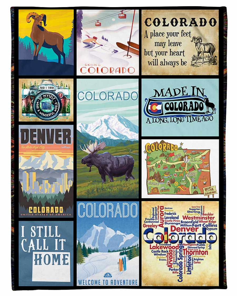 Made In Colorado A Long Time Ago Fleece Blanket