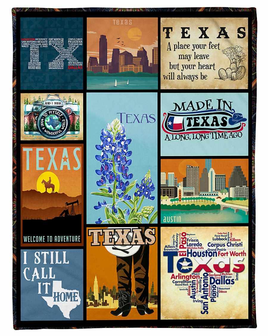Made In Texas A Long Long Time Ago Fleece Blanket