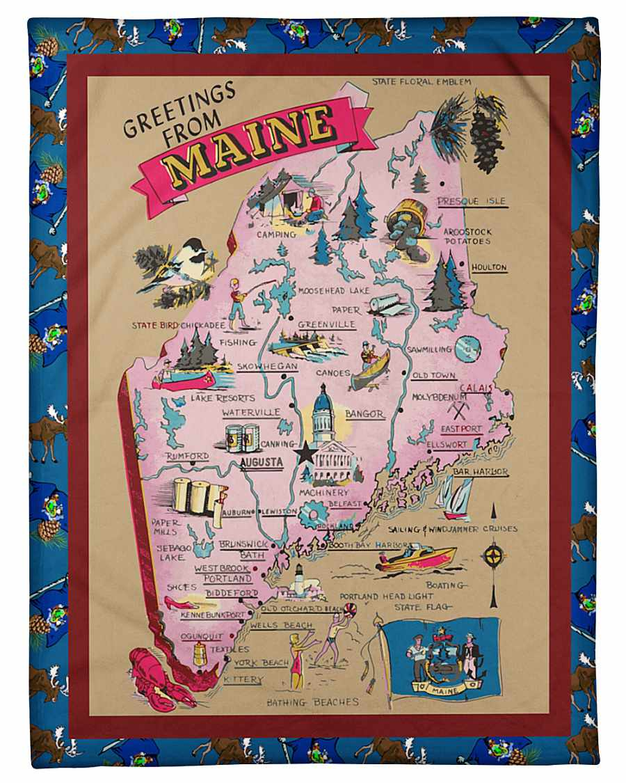 Maine Blanket Fleece Blanket