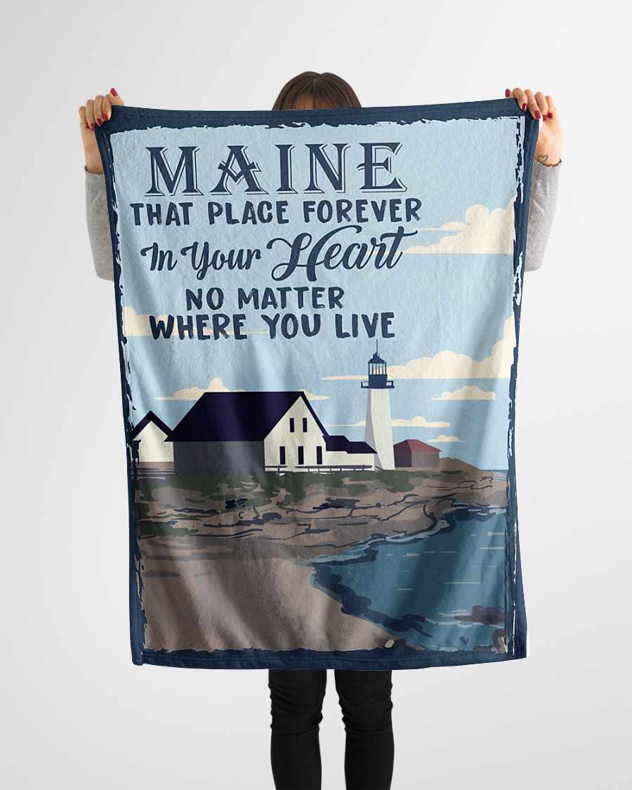 maine that place forever in your heart fleece blanket 1584508436397 Maine That Place Forever In Your Heart Fleece Blanket
