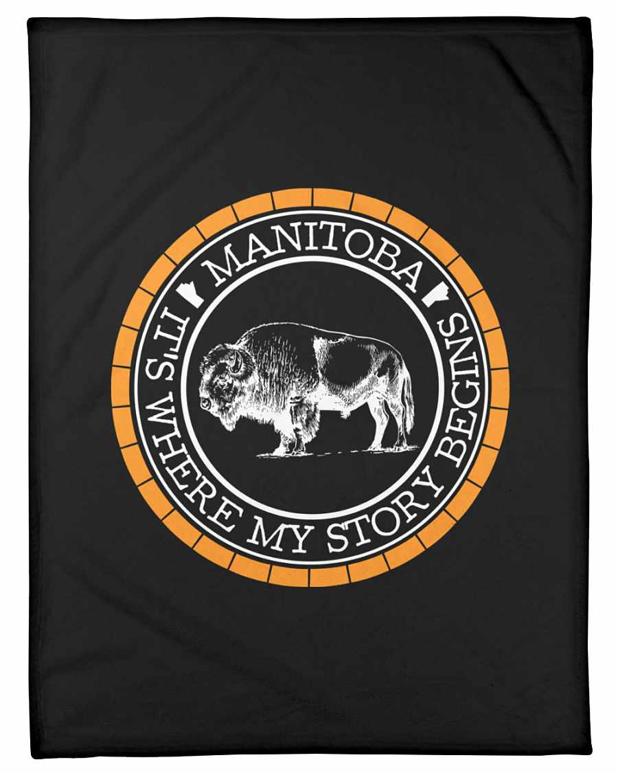 Manitoba Where My Story Begins Fleece Blanket