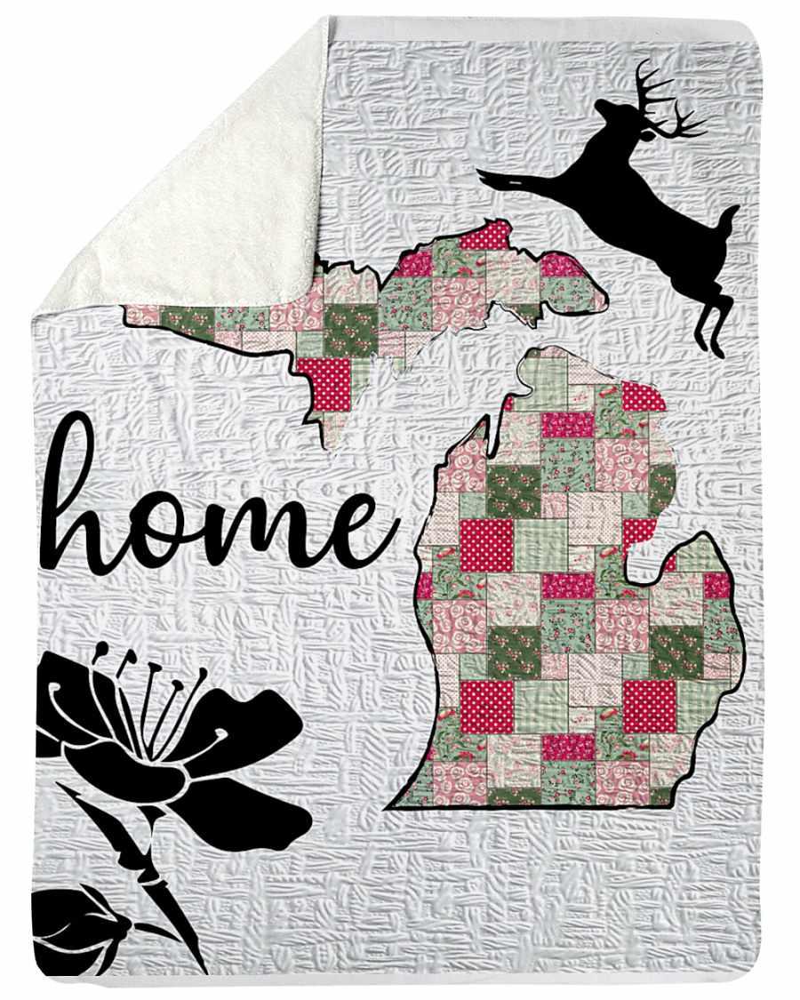 Michigan Home Fleece Blanket