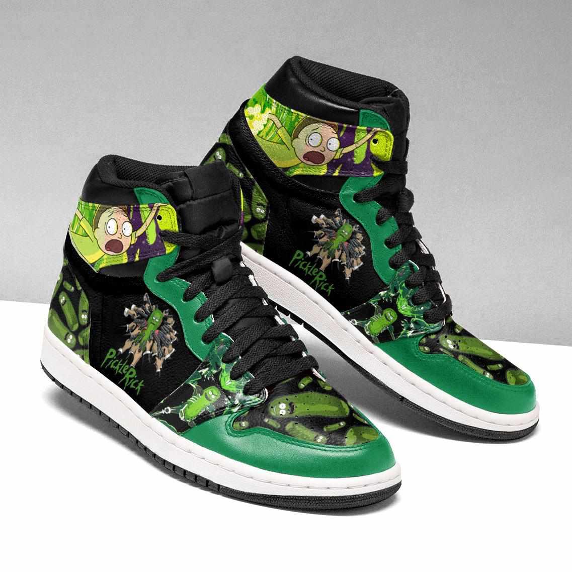 Rick And Morty Ha06 Custom Air Jordan Shoes