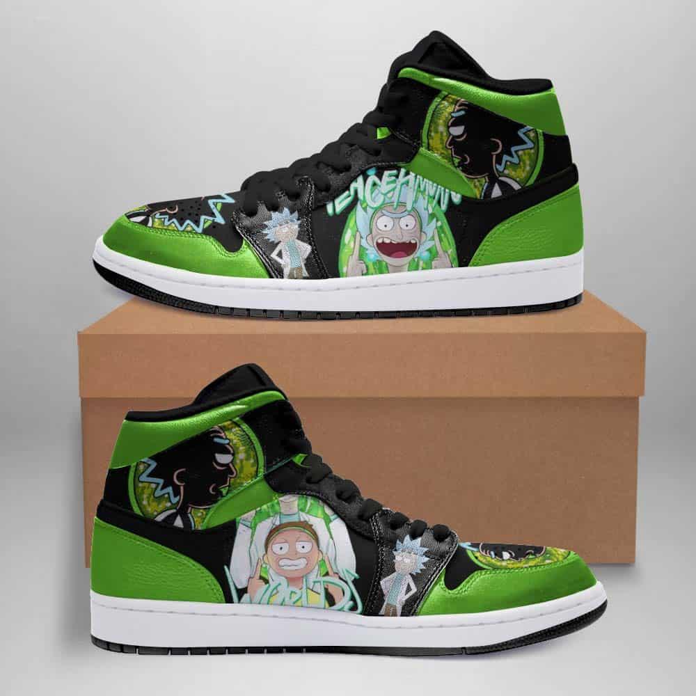 Rick And Morty Ha125 Custom Air Jordan Shoes