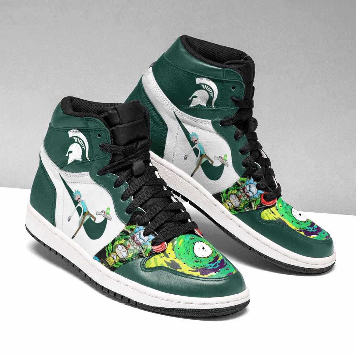 Rick And Morty Michigan Custom Air Jordan Shoes