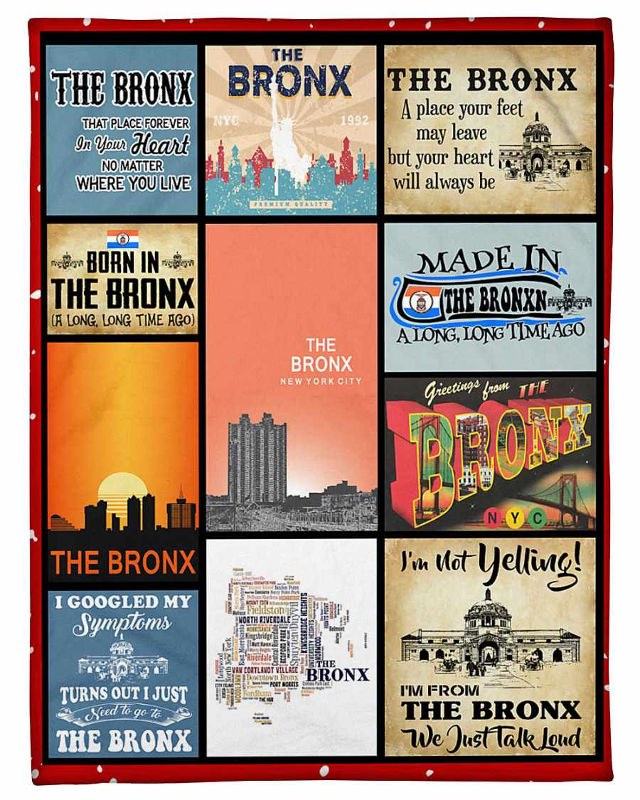 The Bronx That Place Forever In Your Heart Fleece Blanket
